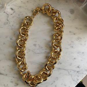 Jcrew chunky gold necklace